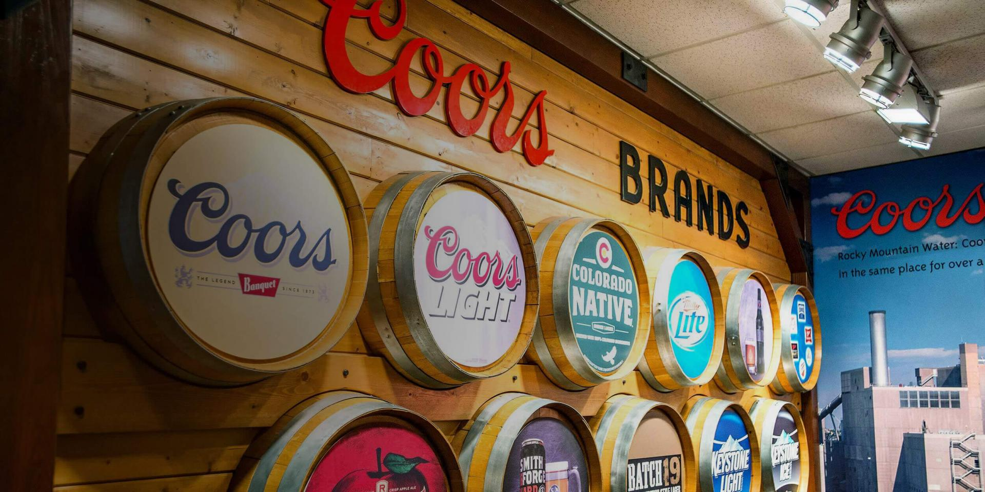 Coors Brewery Brand Barrels