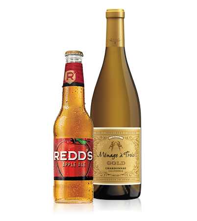 Redds and White Wine Bottles