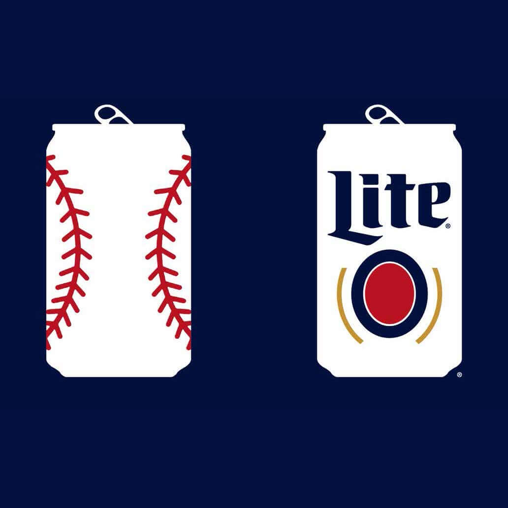 Miller Lite baseball can