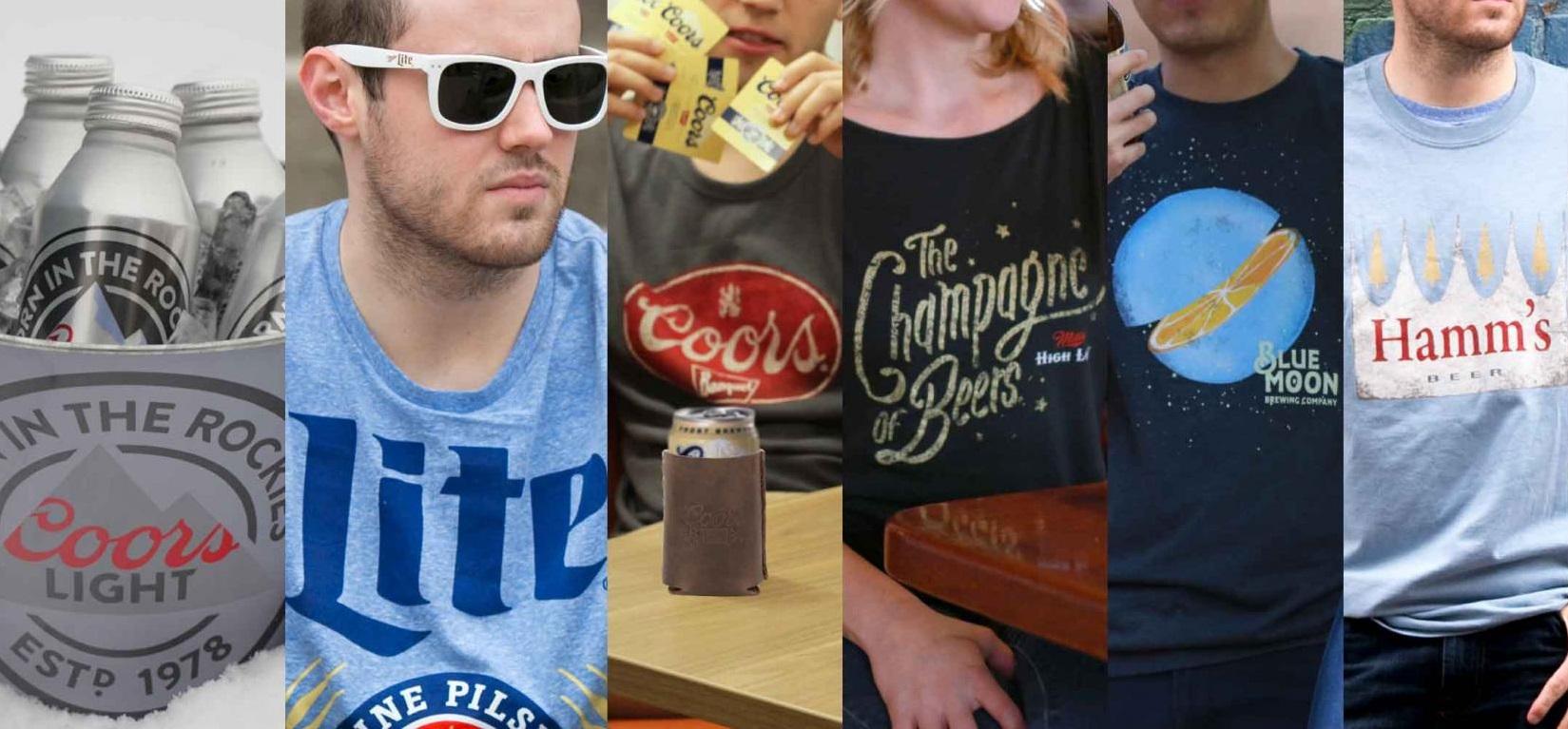 MillerCoors brands merchandise