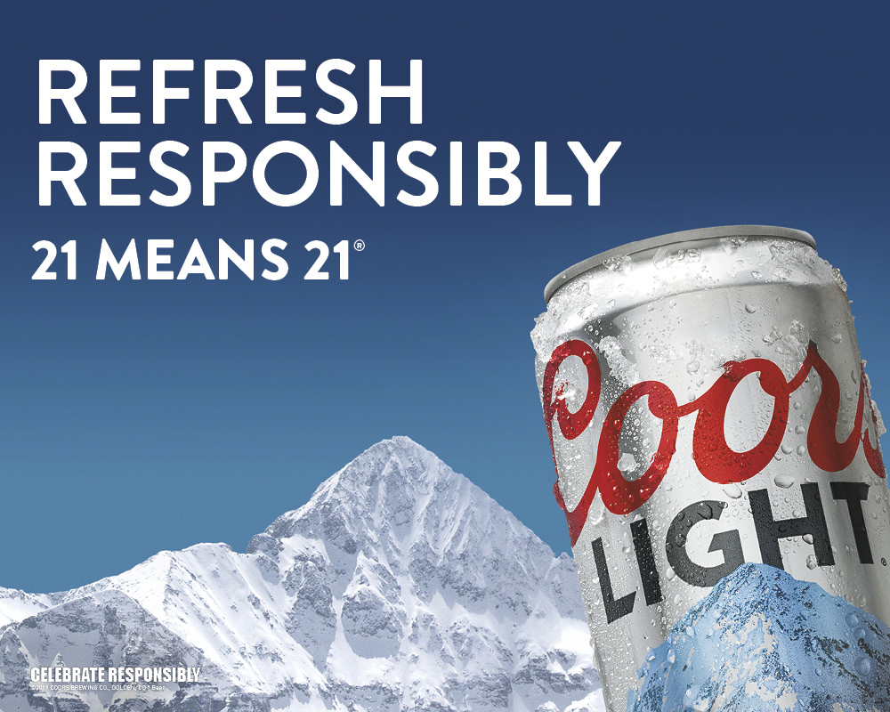 Coors Light Refresh Responsibly Image