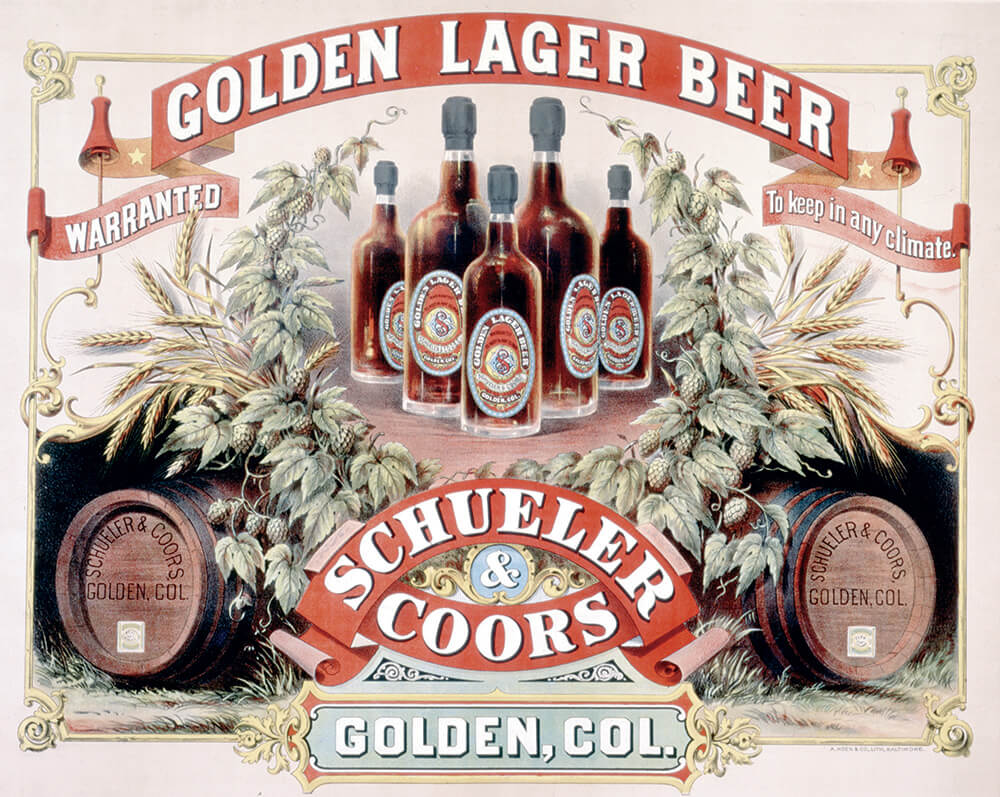 Golden Larger Beer illustration