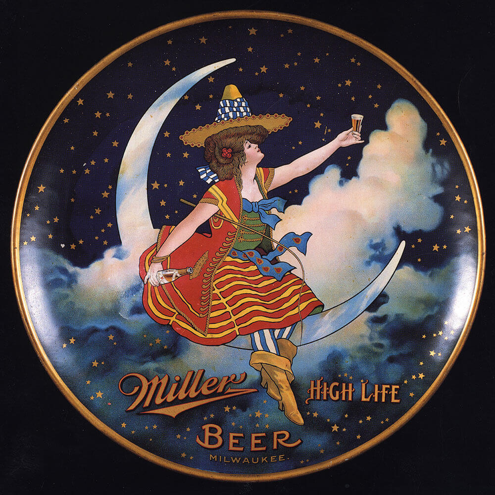Miller girl moon illustration