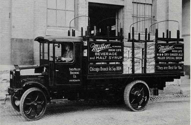 Delivery truck with soda and low alcohol beverages