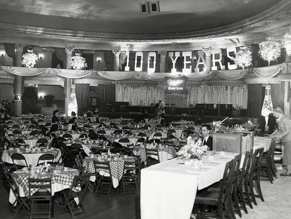 Miller 100th anniversary Eagles Ballroom