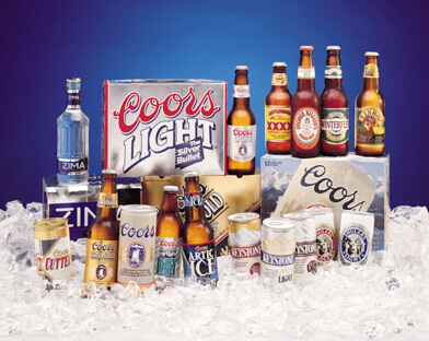 Coors products, bottles, cans and bundles