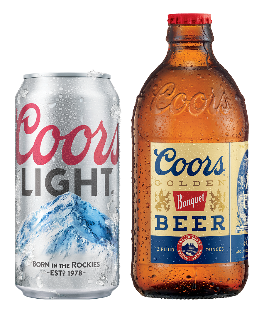 Coors bottle and Coors Light Can