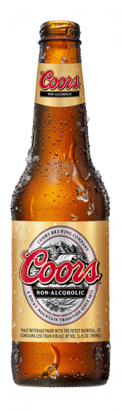 Coors Non-Alcoholic beer bottle