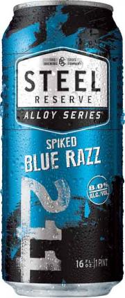 Steel Reserve Spiked Blue Razz Can