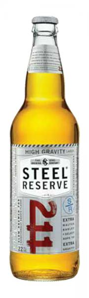 Steel Reserve High Gravity Beer Bottle