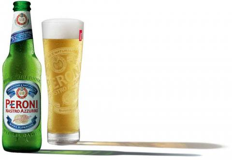 Peroni Glass and Bottle