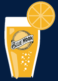 Blue Moon beer glass