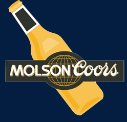 MolsonCoors logo and a beer
