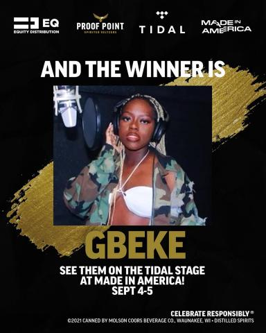 We have a winner folks! @gb3ke  Lots of your favorite artists showed up and showed out but @gb3ke proved themselves the realest.   Check them out on the @Tidal Stage at @MIAfest